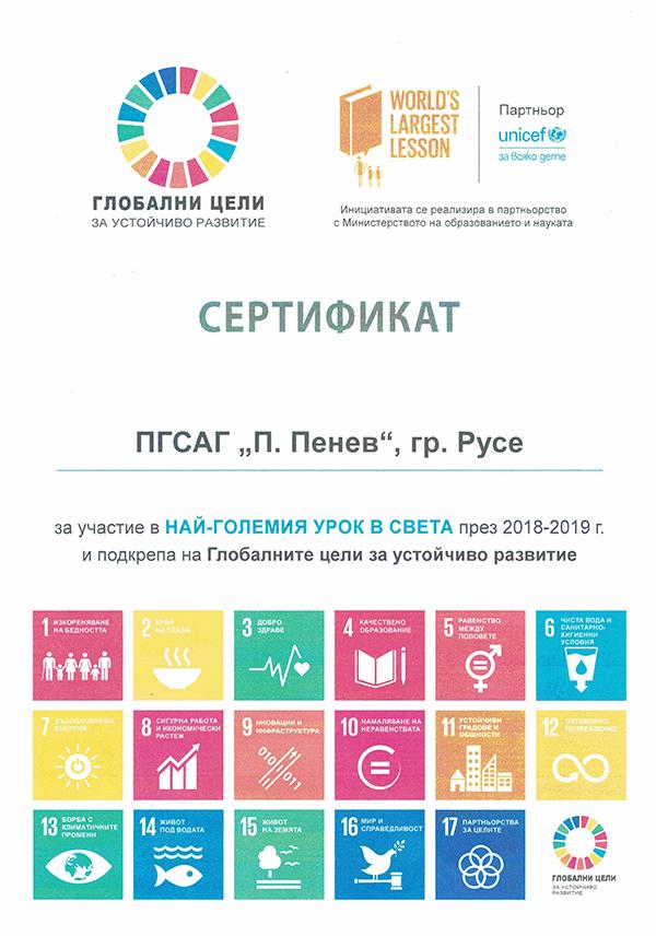 Сертификат НГУС